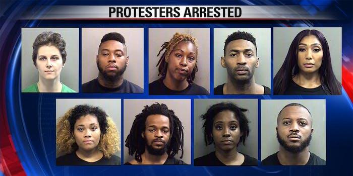 dallas 9 protesters