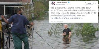 donald trump jr anderson cooper hurricane meme