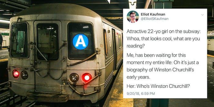 elliot kaufman churchill subway tweet