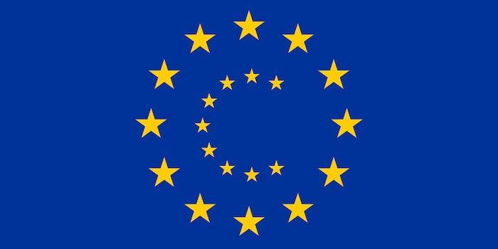 european flag copyright symbol