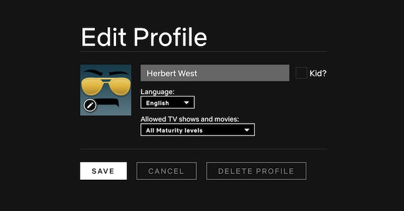how to delete watch history on netflix