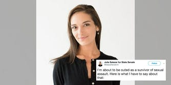 New York Senate candidate Julia Salazar addresses being outed as a survivor of sexual assault.