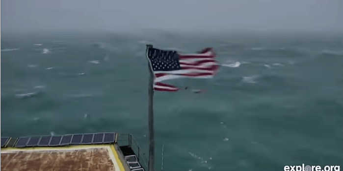 Kevin the flag in Hurricane Florence