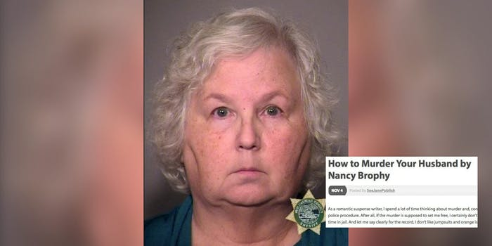 Nancy Crampton-Brophy, who killed her husband after previously blogging about how to kill your husband.
