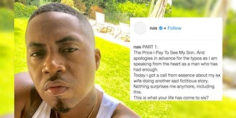 Nas and an Instagram post in which he denies abusing his ex-wife Kelis.
