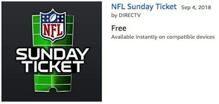 nfl sunday ticket streaming without directv on amazon prime