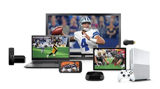 Devices streaming the nfl sunday ticket. including a laptop, TV and XBox