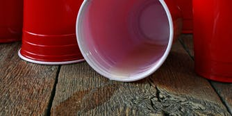 red solo cup beer spill