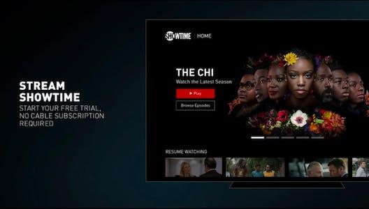 roku channels - showtime menu