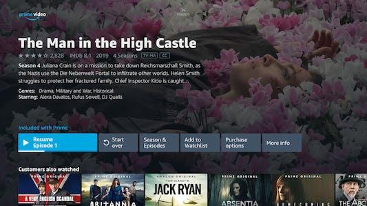 Amazon Prime menu streaming on roku