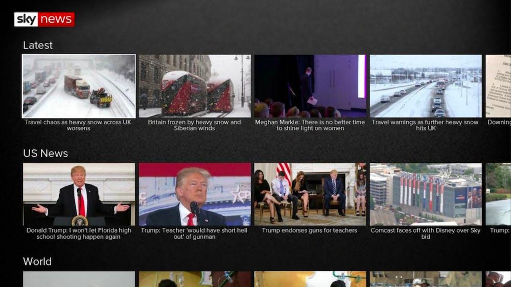 roku channels - sky news