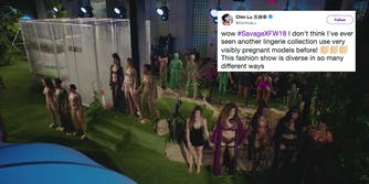 Fashion models at Rihanna's SavagexFenty New York fashion week show.