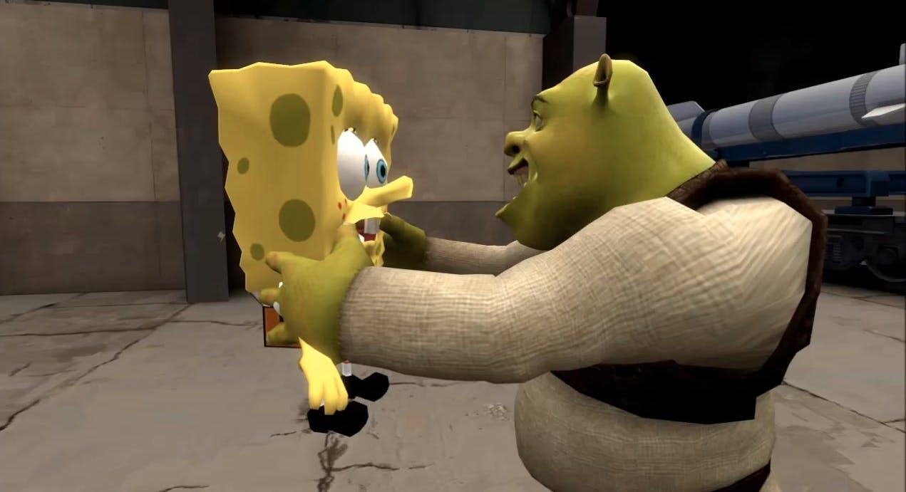 shrek spongebob