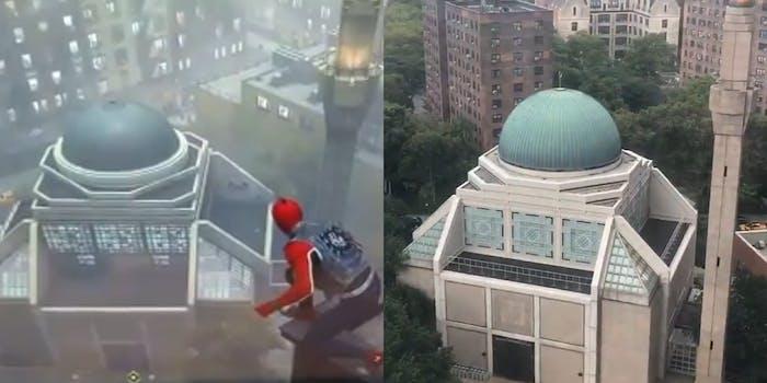 spiderman building irl