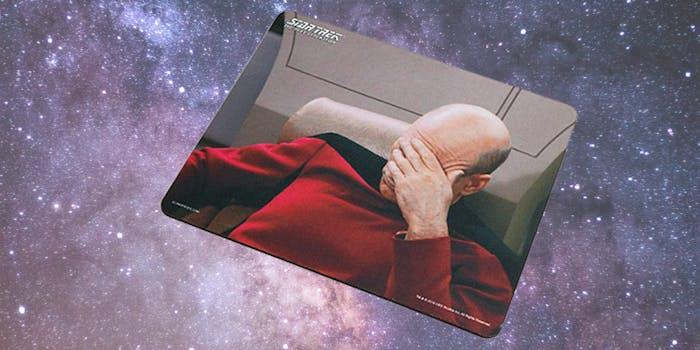 picard facepalm mousepad