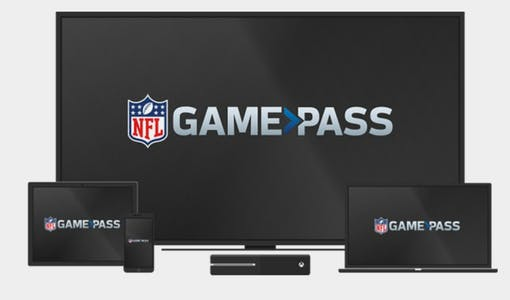 Image showing different devices that you can stream nfl sunday ticket on with NFL Game Pass