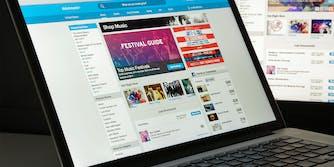 ticketmaster website on laptop