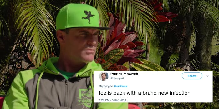 Vanilla Ice livetweeted from the quarantined flight that landed at New York's Kennedy Airport.