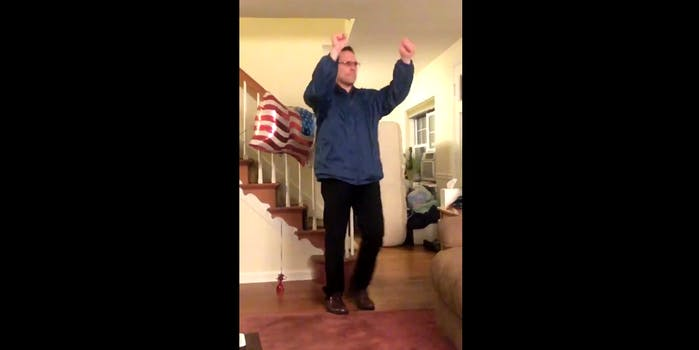 """Dads dancing to """"My Blood"""" by 21 Pilots"""