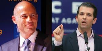 Michael Avenatti and Donald Trump Jr.