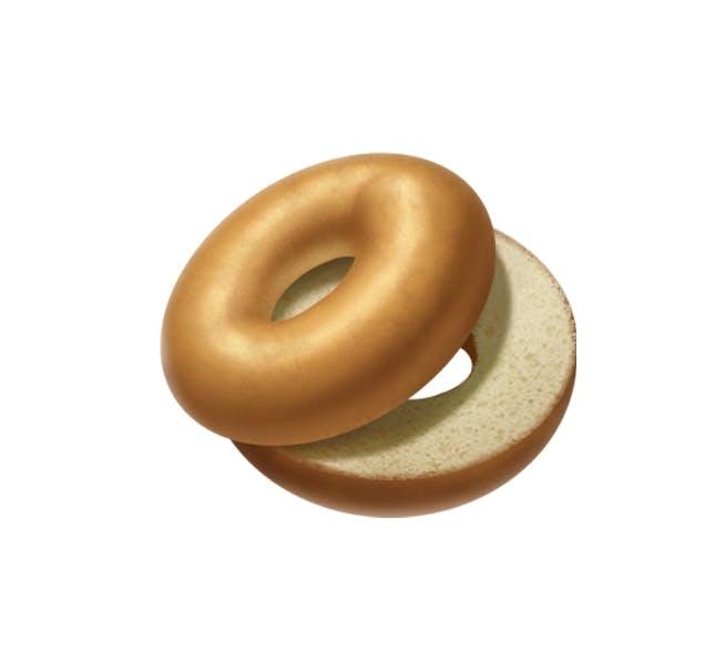 Apple's original bagel emoji.