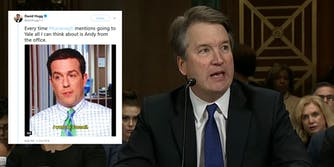 Parkland survivor David Hogg compared Supreme Court nominee Brett Kavanaugh to Andy Bernard from 'The Office' on Tuesday.