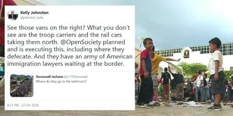 A Campbell's Soup executive tweeted a conspiracy about the migrant caravan