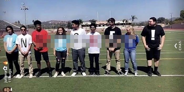 Escondido High School racist tshirt prank