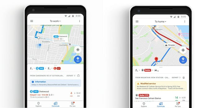 Google Maps is introducing new real-time tracking features for buses and trains.