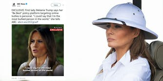 First Lady Melania Trump claimed she was one of the most bullied people on the planet on Thursday when discussing her 'Be Best' initiative.