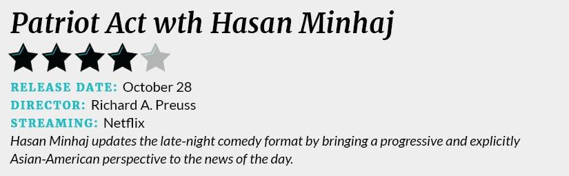 Patriot Act wth Hasan Minhaj review box