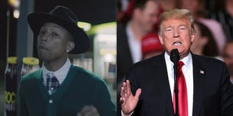 Lawyers for musician Pharrell Williams blasted President Donald Trump after the song 'Happy' was used at a rally the day of the Pittsburgh shooting.