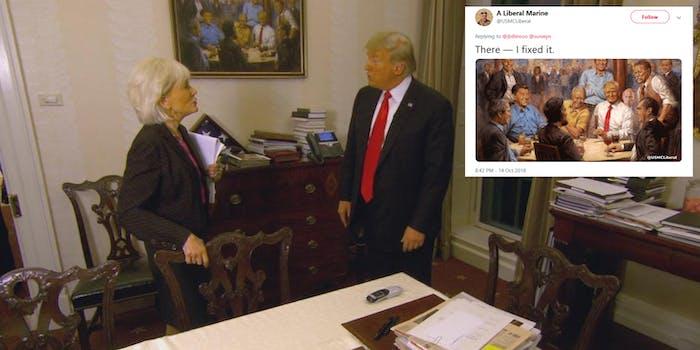 Trump Painting 60 Minutes