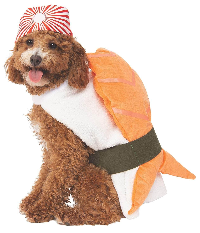 dog costume sushi