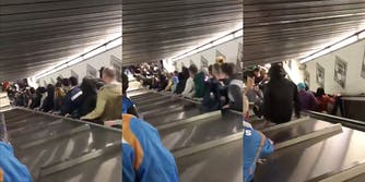 A terrifying escalator accident in Rome leaves 20 injured.