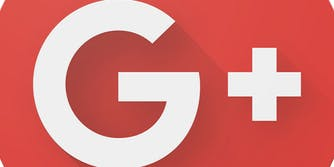 Google Plus logo zoomed in