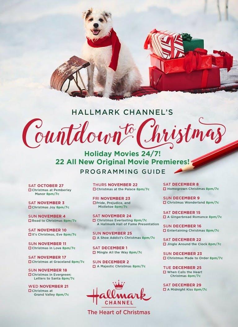 hallmark christmas movies 2018 schedule