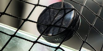 how to watch NHL games tonight on TV - NHL hockey puck in the net