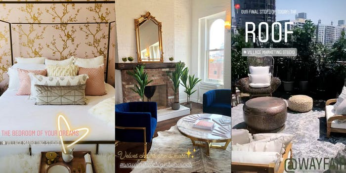 A New York apartment that rents for $15,000 has been set up to host Instagram influencers' photo shoots.