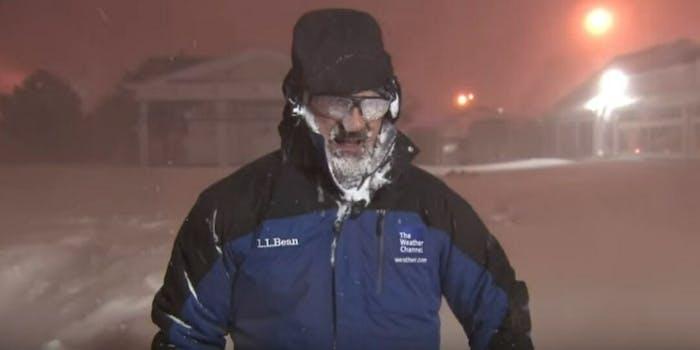 Jim Cantore Trespass warning Hurricane Michael