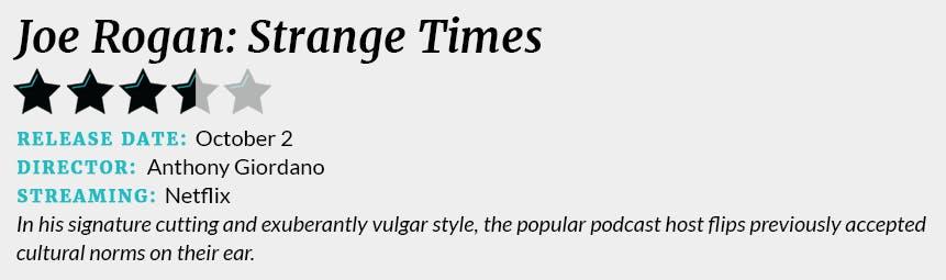 joe rogan strange times review box