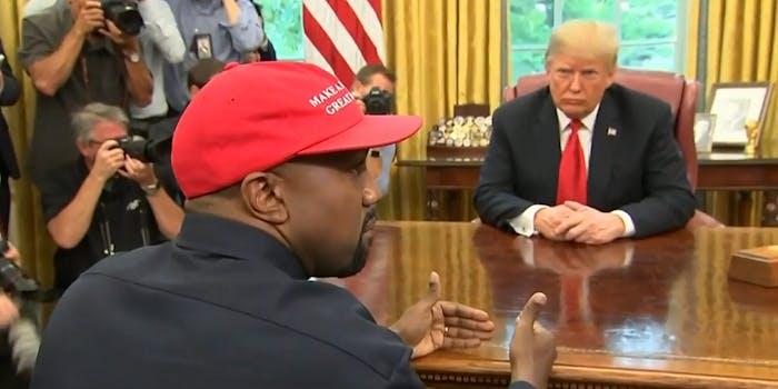 kanye and donald trump