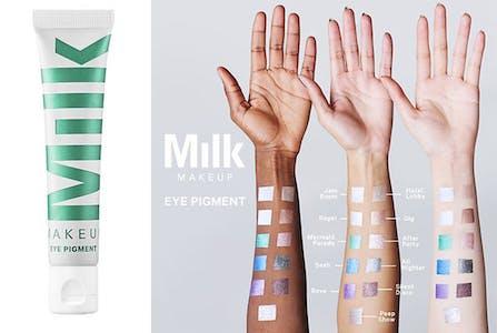 best halloween makeup milk makeup eye pigment palette on hands