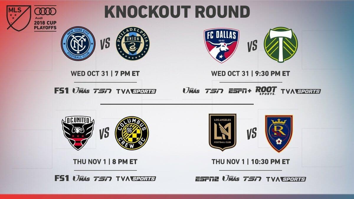 mls playoffs knockout round live stream