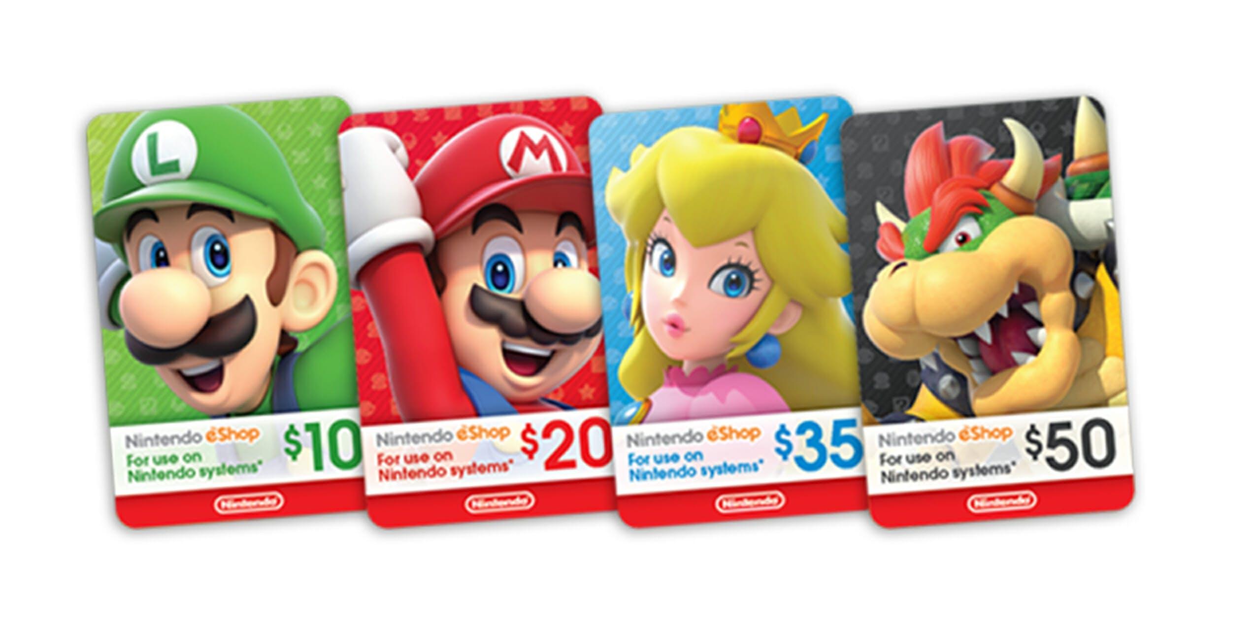 Nintendo Switch eshop card