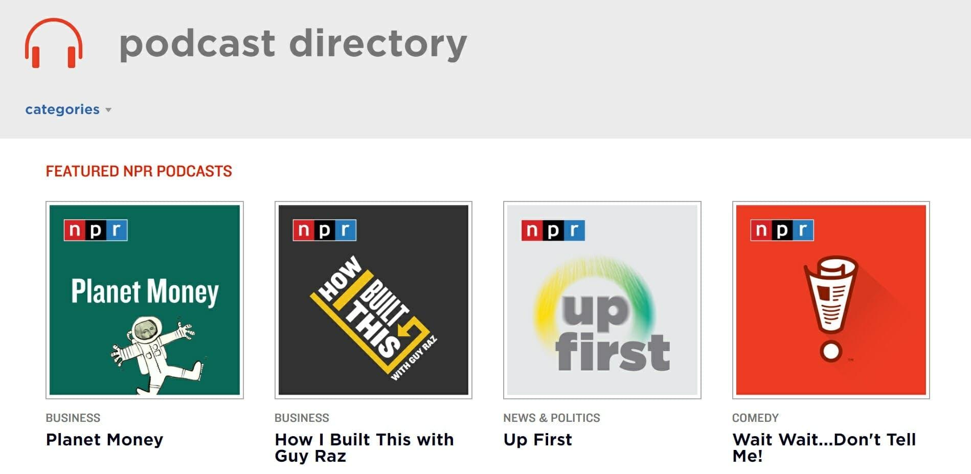 npr live stream npr podcast directory
