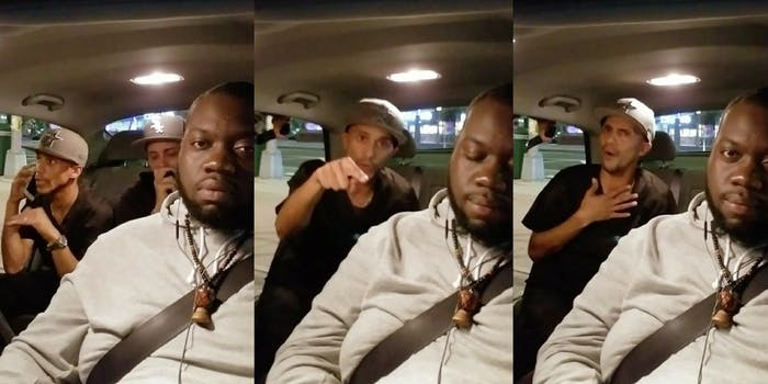 A racist Lyft passenger calling the driver the N-word