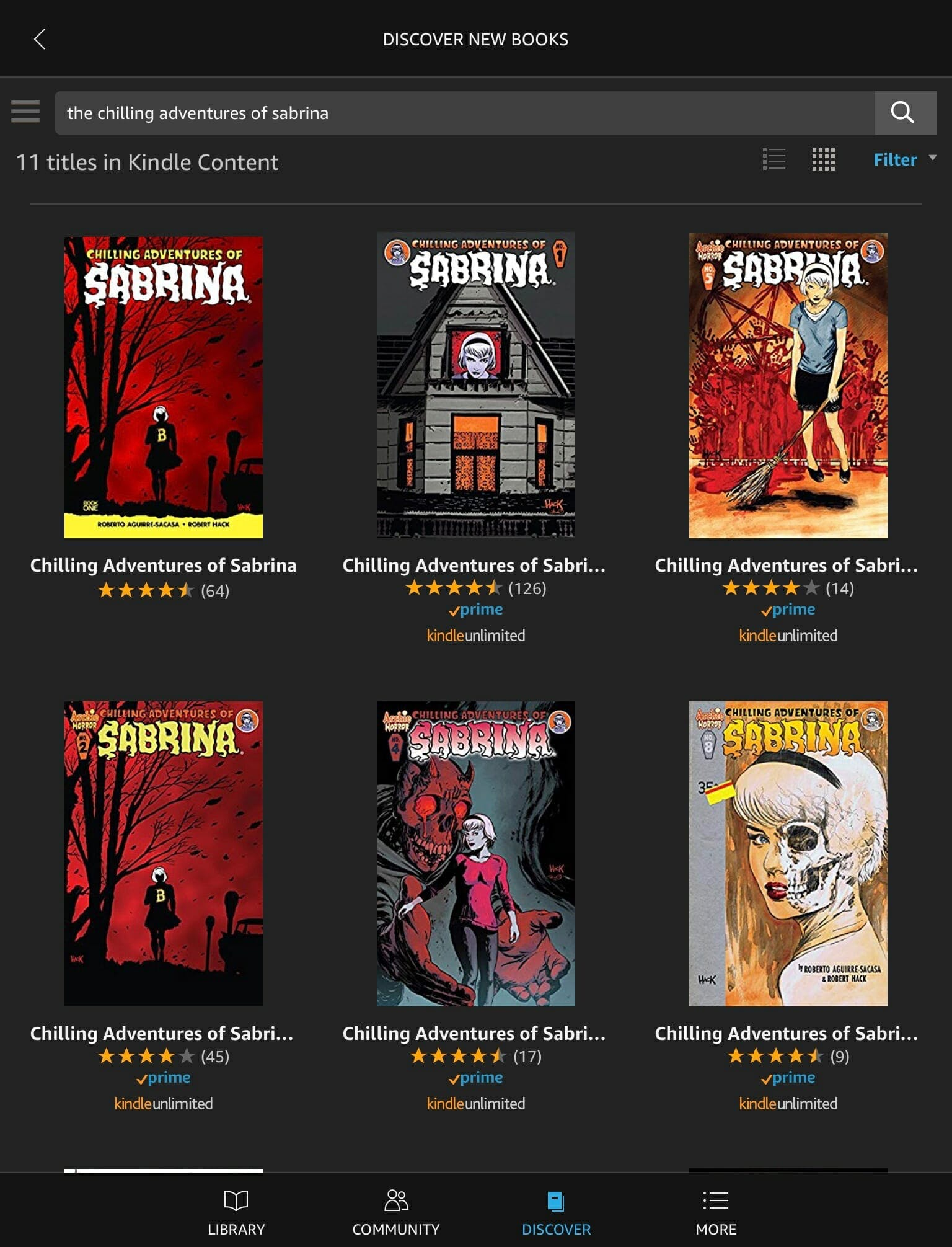 how to read chilling adventures of sabrina amazon prime reading