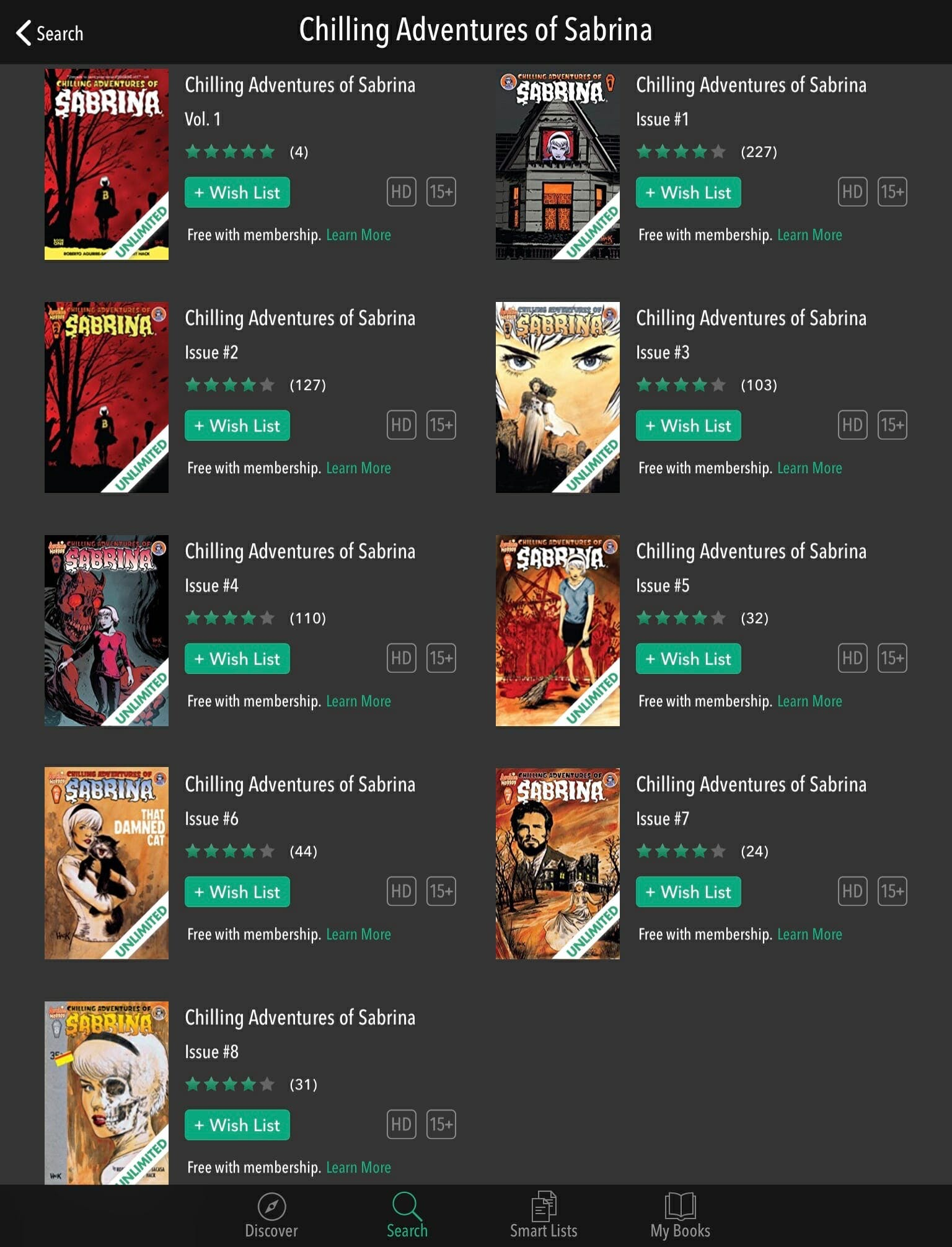 how to read chilling adventures of sabrina for free comixology unlimited