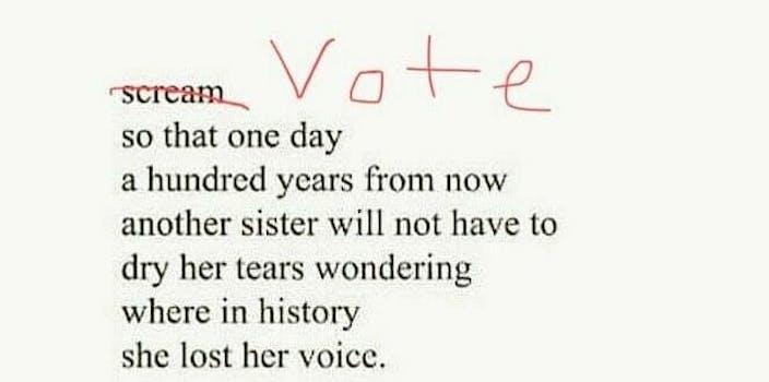 jasmine kaur scream not vote